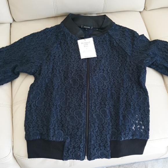 Blue Lace Bomber Jacket
